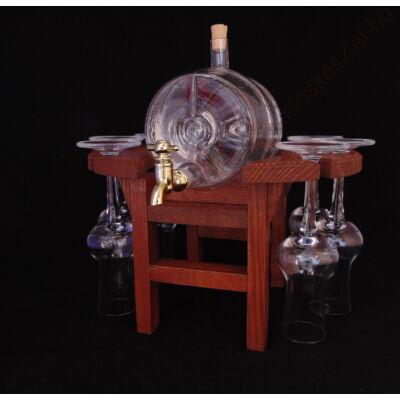 Pálinkás készlet grappás poharakkal